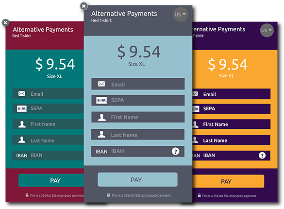 Alternative Payments Branded Payment Widget