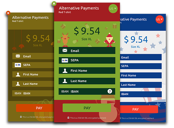 Alternative Payments Action Payment Widget